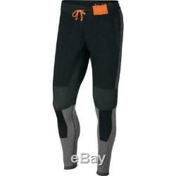 Nike Sportswear Tech Pack Men's Knit Pants M Black Gray Orange Gym Joggers