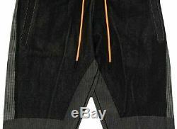 Nike Sportswear Tech Pack Men's Knit Pants XL Black Gray Orange Gym Joggers