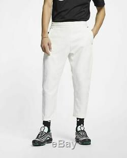 Nike Sportswear Tech Pack Woven Pants Joggers White Cropped Fleece AR1562-133