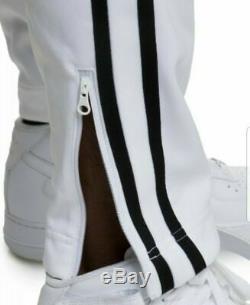Nike Sportswear Tribute Jogger Track Pants White Black AR2246 Size Large Men New