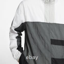 Nike Sportswear Woven Flight Suit Track Jacket Pants Jogger XL Grey Black White