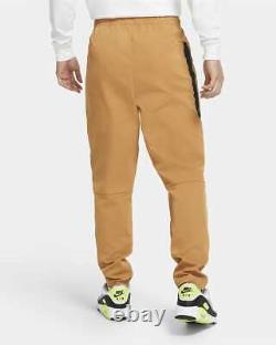 Nike Sportswear Woven Jogger Pants Flax Brown Black CU4483-201 Men's XXL