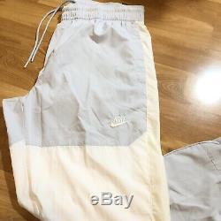 Nike Sportswear Woven Trousers Mens Size Large White Off White Jogger Pants