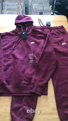 Nike Sweat Suit Set Burgundy Hoodie Sweater & Joggers Pants Sweats Men's L Large