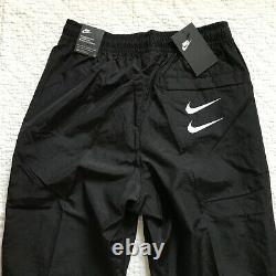 Nike Swoosh Woven Pants Sportswear Mens SZ Medium Black/White NWT CU3890-010