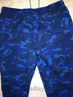 Nike Tech Fleece Camo Mens Joggers Black/Blue Camo Size XL 682852-480 pants