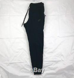 Nike Tech Fleece Cuffed Jogger Sweatpants Triple Black 929134-010 Men's Medium M