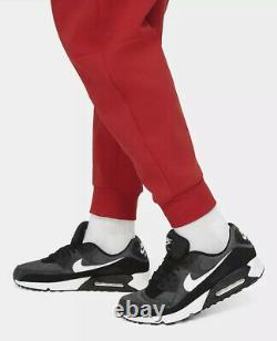 Nike Tech Fleece Jogger Pants Men's Sz Medium M Red Black CU4495-657 Tapered NWT