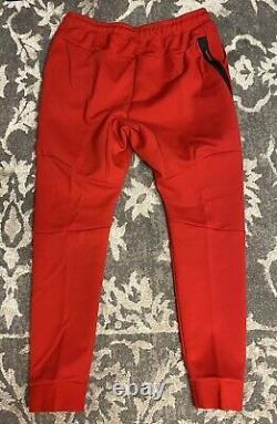 Nike Tech Fleece Jogger Pants Mens Sz XXL-Tall Red White Black 805162-657 NEW