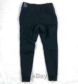 Nike Tech Fleece Jogger Pants Sweatpants Black Navy Blue 805162-018 Men's Medium