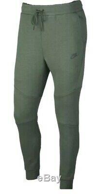 Nike Tech Fleece Jogger Pants Sweatpants Green Black 805162-370 Men's Large