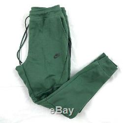 Nike Tech Fleece Jogger Pants Sweatpants Green Black 805162-370 Men's Small S