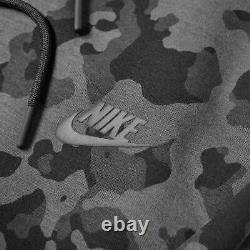 Nike Tech Fleece Jogger Pants Sweatpants Grey Camo Black CJ5981-010 Men's S-M