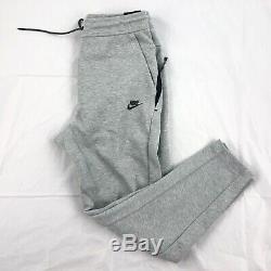 Nike Tech Fleece Jogger Pants Sweatpants Heather Grey Black 928507-063 Men's S