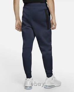 Nike Tech Fleece Jogger Pants Sweatpants Navy Blue Black CU4495-410 Men's XL