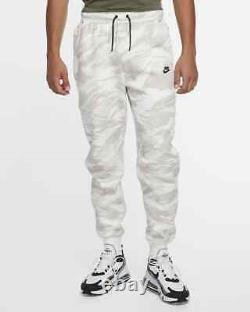 Nike Tech Fleece Jogger Pants Sweatpants White Camo Grey CU4497-121 Men's XL