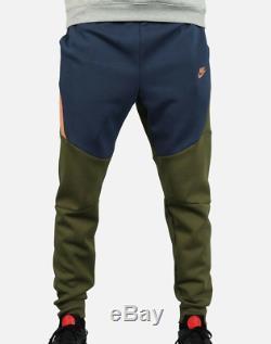 Nike Tech Fleece Joggers Pants Cuffed Green/Blue Men's Medium (805162-395) $100