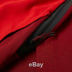 Nike Tech Fleece Joggers Pants Cuffed TEAM UNIVERSITY RED BLACK 805162-677 Men's