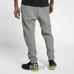 Nike Tech Fleece Joggers Pants HEATHER GREY BLACK 928507-063 Men's Sweatpants