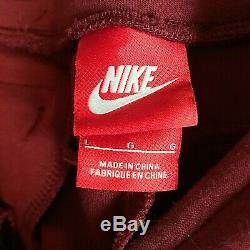 Nike Tech Fleece Joggers Pants Team Red Black 545343-695 Men's L New
