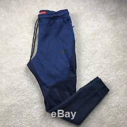 Nike Tech Fleece Navy Blue Black Cuffed Jogger Sweatpants 805162-453 Mens XL