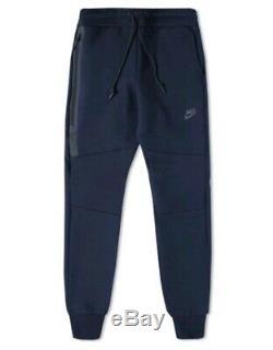 Nike Tech Fleece Pants Joggers Obsidian Heather/Black Mens Size XL 545343 474
