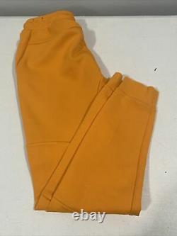 Nike Tech Fleece Pants Joggers Slim Fit Orange Kumquat Mens Med Used 805162 866