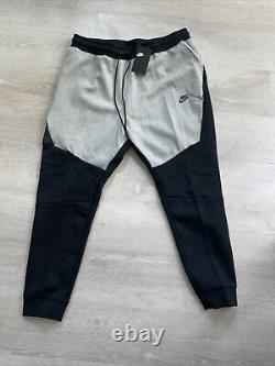 Nike Tech Fleece Slim Fit Jogger Pants Black Grey Mens Size XXL 805162-015 New