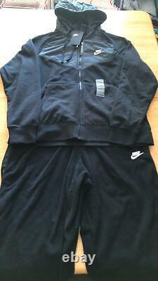Nike Tech Fleece Sweat Suit Set Black Hoodie Jacket Joggers Pants Men's L Large