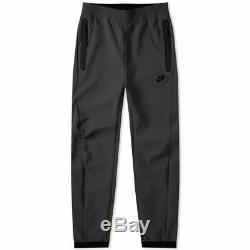Nike Tech Pack Textured Woven Pants Joggers TRIPLE ALL BLACK 928573-010 Men's
