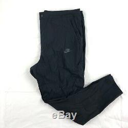 Nike Tech Pack Woven Bonded Jogger Pants Triple Black 927991-010 Men's 34
