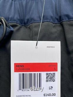 Nike Tech Pack Woven Tapered Leg Pants Black Blue CJ5155 010 Men's Size Large