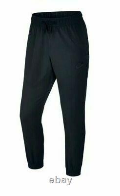 Nike Woven Jogger Pants Black Standard Fit Taper Legs Size XL Mens New