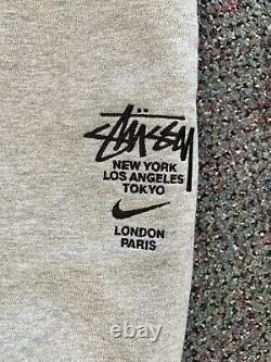 Nike stussy sweatpants size large vintage vtg authentic rare new grey jogger