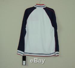 Nw Fila Mens Gym Jogger Moda Tricot Tracksuit Jacket Pants Set White SZ M L 2XL