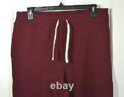 Nwt Men's Classics Polo Ralph Lauren Red Joggers Cinch Bottom Sz S L XL 2xl