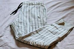 OVO Mens Striped Pants Grey Size Medium (30-32) Octobers Very Own Drake Owl Logo