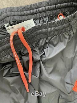 Off-White Virgil Abloh Logo-Tape Tech Black Nylon Jogger XL Pants NEW With Tags