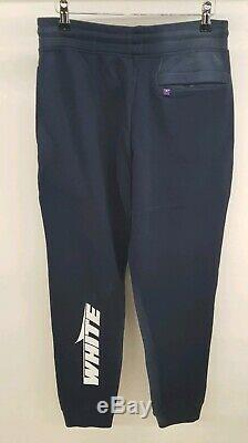 Off-White Wing Faded Blue Mens Track Pants Joggers M Medium
