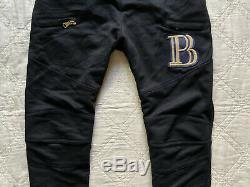 PIERRE BALMAINMoto biker joggers track sweat pants size 52 XL