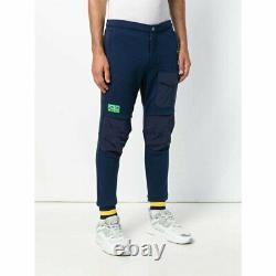 POLO HI TECH Ralph Lauren Men Size L (34x30) Sweatpants Blue Extended Knee $198