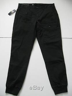 POLO RALPH LAUREN Men's Black Straight-Fit Stretch Cargo Jogger Pants 36x32