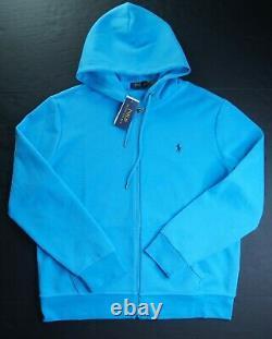 POLO RALPH LAUREN Men's Turquoise Blue Double Knit Full Zip Hoodie & Jogger Set