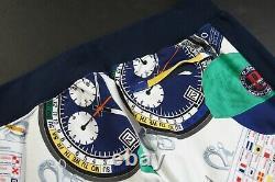 POLO RALPH LAUREN Men's White Multi Ships Log Print Track Jacket & Jogger Pant