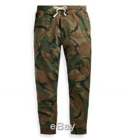 POLO Ralph Lauren Men's Camo Jogger Pants Fleece Camouflage Lounging Pants $148