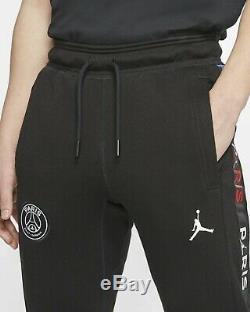 Paris Saint-Germain Mens Jordan Fleece Jogger Pants BQ8348-011 Black-Size Medium