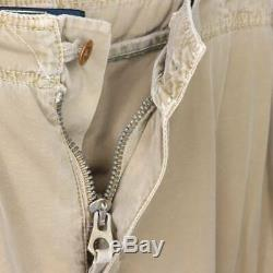 Polo By Ralph Lauren Mens Novelty Cargo Joggers Beige Cinch Ankle Cotton XL New