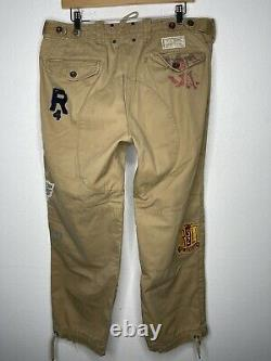 Polo Ralph Lauren 34x30 Military Cargo P Wing Patches Pants RRL Flight 33 Jogger