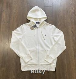 Polo Ralph Lauren Double Knit Tracksuit Hoodie Jogger White New WithTags Mens S