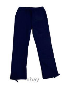 Polo Ralph Lauren Gothic Varsity Yale Patch Jogger Sweatpants Blue NWT Mens L